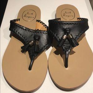 Jack Rogers Tassel Thong Sandals - Size 7